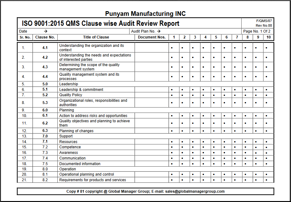 iso 14001 2015 sample manual